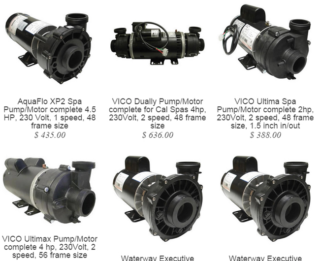 Hot tub pump motor combos with free shipping waterway for Hot tub pumps and motors