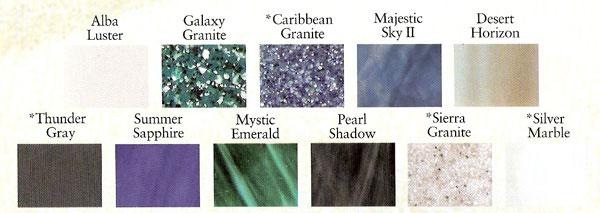 PDC Spas colors