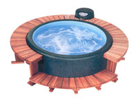 Softub Redwood Sectional Full Surround Decking - Model 300+