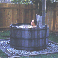 Snorkel wood fired hot tub