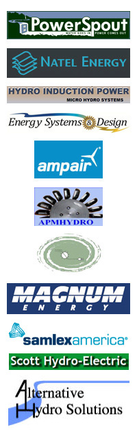 We sell micro hydro systems from top manufacturers including Power Spout, Natel Energy, Hydro Induction Power, ES&D, Ampair, APM Hydro and Canyon Micro Hydro